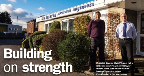GW Martin feature in Machinery Magazine